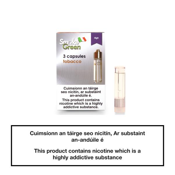Smoke Green Capsule Refill Classic Tobacco