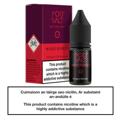 Mixed Berries Nic Salt E-Liquid by Pod Salt 10ml
