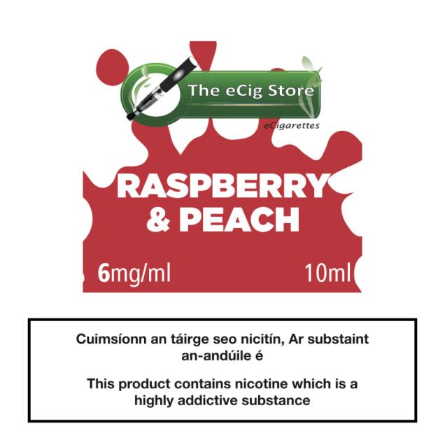 eCig Store Raspberry & Peach 10ml