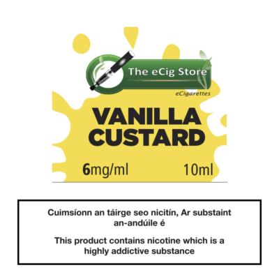 eCig Store Vanilla Custard 10ml