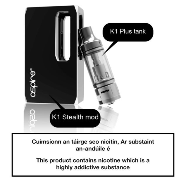 Aspire K1 Stealth Kit - Components