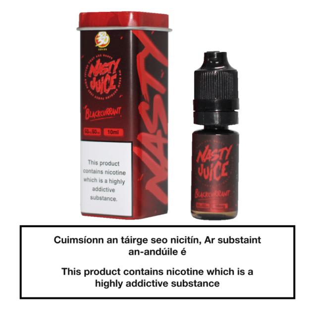 Nasty Juice 50/50 Blackcurrant 10ml