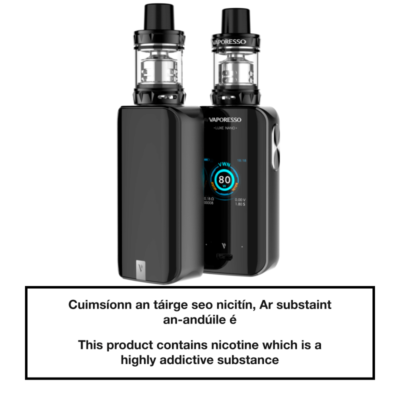 Vaporesso Luxe Nano Kit Black Front and Back
