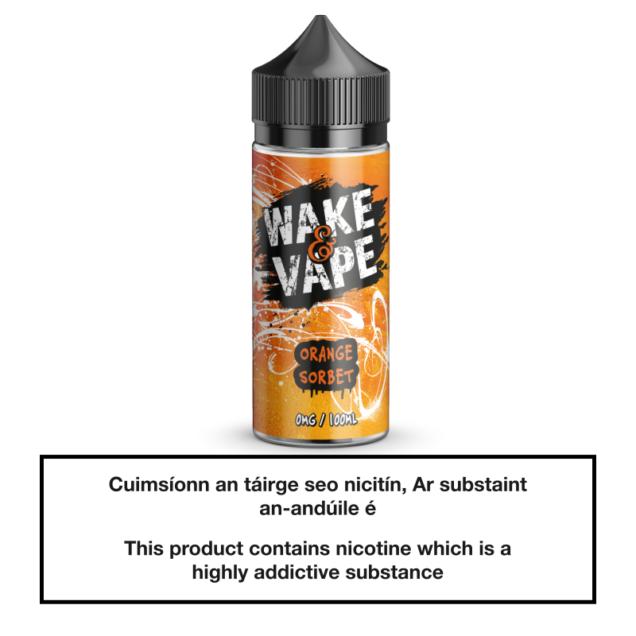 Wake & Vape Orange Sorbet 100ml