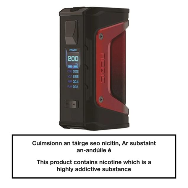 GeekVape Aegis Legend Mod 200W - Red Trim