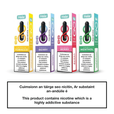 Hale Vaping Go Disposable Pod - Flavours Available
