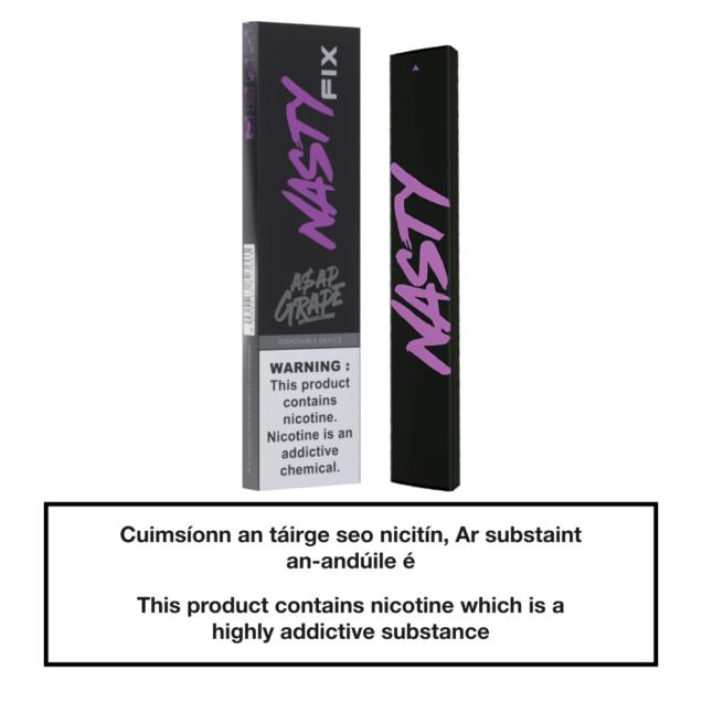 20mg Nasty Fix Disposable Pod Device - A$ap Grape