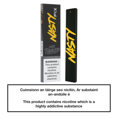 20mg Nasty Fix Disposable Pod Device - Pure Tobacco