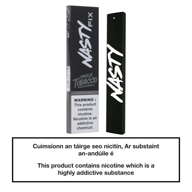 20mg Nasty Fix Disposable Pod Device - Vanilla Tobacco
