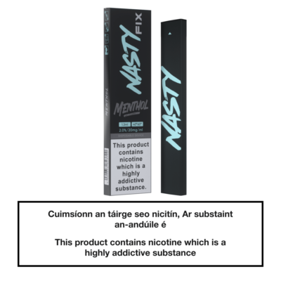 20mg Nasty Fix Disposable Pod Device - Menthol