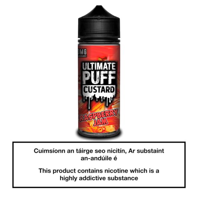 Ultimate Puff Custard Raspberry Jam 100ml